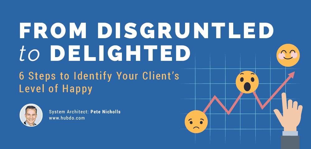steps to identify your client's level of happy