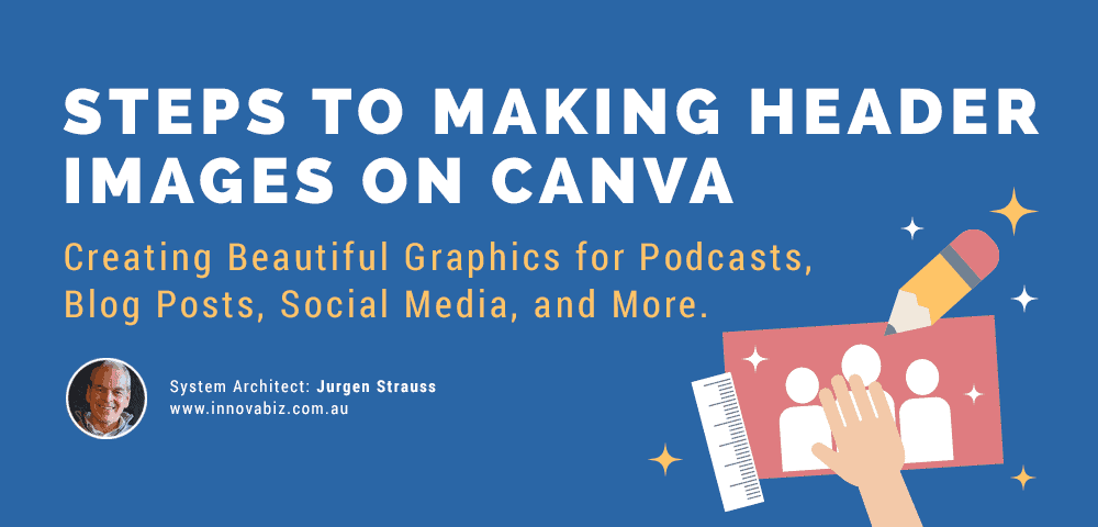 steps to making header images on Canva