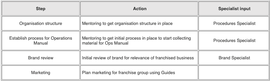 develop the big picture for your franchised business