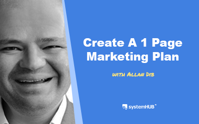 EP 58: The 1-Page Marketing Plan System with Allan Dib